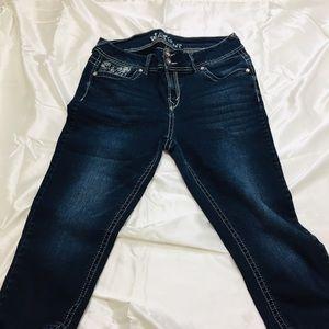 Wallpaper Blue Jeans  Strech Size 15